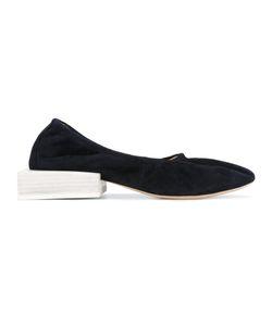 Jacquemus   Block Heel Ballerinas Womens Size 37 Leather/Goat Skin
