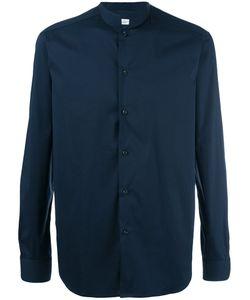 Paolo Pecora | Mandarin Collar Shirt Mens Size 38 Cotton/Polyamide/Spandex/Elastane