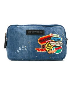 Dsquared2 | Patched Denim Wash Bag Cotton/Calf Leather/Polyester