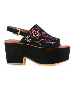 See by Chloé   Embroide Platform Slingback Mules Womens Size 36