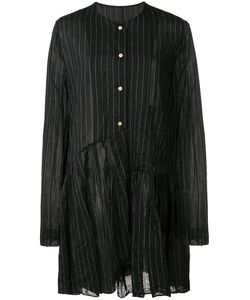 Uma Wang | Pleated Trim Striped Shirt Size Medium Cotton/Silk