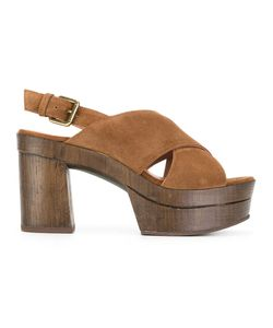 L'Autre Chose | Cigar Sandals Size 40 Calf Leather/Calf Suede/Rubber