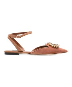 Dolce & Gabbana | Bellucci Slippers Womens Size 36.5 Leather/Suede/Metal Other