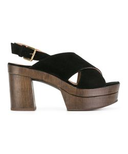 L'Autre Chose | Crossed Sandals Womens Size 38 Calf Leather/Calf Suede/Rubber