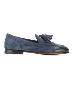 Alberto Fasciani   Tasseled Low-Heel Loafers Womens Size 37 Calf Leather/Suede/Leather