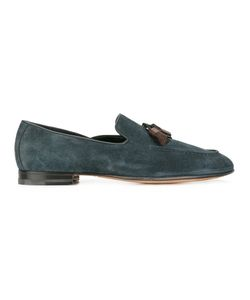 Santoni | Classic Tassel Loafers Mens Size 9.5 Leather/Suede
