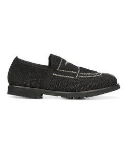 Rocco P.   Contrast Front Loafers Womens Size 39 Lurex/Leather/Rubber