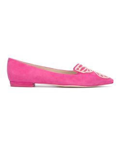Sophia Webster | Magenta Ballerina Shoes Womens Size 35 Suede/Leather/Viscose