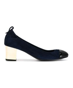 Lanvin | Block Heel Pumps Womens Size 38 Leather/Suede