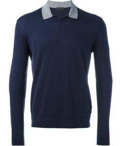 Z Zegna | Collar Sweatshirt Mens Size Medium Silk/Cotton
