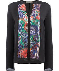 Maison Rabih Kayrouz   Embellished Shirt Womens Size 38 Silk/Polyester/ Fibre