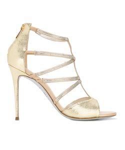 Rene Caovilla | René Caovilla Karung Sandals Womens Size 37.5 Leather/Pvc