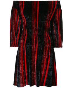 Sonia Rykiel | Off-Shoulder Velvet Dress Womens Size Small Polyamide/Viscose