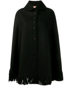 Alaïa | Fringed Cape Womens Size 36 Virgin Wool/Cashmere/Cupro