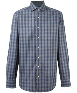 Hackett | Mayfair Navy Check Shirt Mens Size Large Cotton