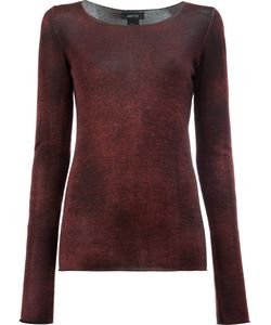 Avant Toi | Washed Effect Jumper Womens Size Small Silk/Cashmere