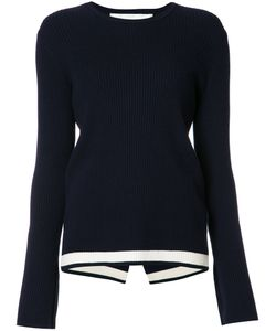 Victoria, Victoria Beckham | Ribbed Knit Jumper Womens Size 10 Cotton/Nylon/Spandex/Elastane/Wool