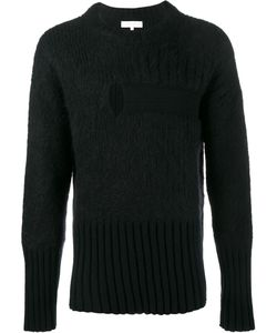 Helen Lawrence | Split Ribbed Jumper Mens Size Small Lambs Wool/Mohair/Wool/Polyamide