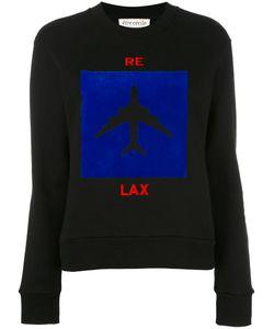 Être Cécile | Aeroplane Print Sweatshirt Womens Size Xs Cotton