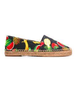 Dolce & Gabbana | Tropical Print Espadrilles Womens Size 41 Cotton/Leather/Viscose