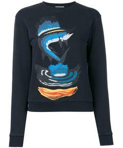 J.W.Anderson   Shark Print Sweatshirt Womens Size Medium Cotton
