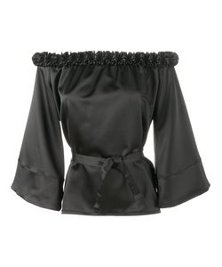 Jour/Né | Ruffle-Trimmed Off Shoulder Blouse Womens Size 42 Polyester/Spandex/Elastane