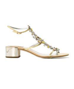 Rene Caovilla | René Caovilla Stoned Sandals Womens Size 40 Leather/Stone