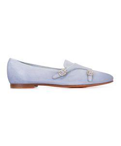 Santoni | Monk Strap Loafers Womens Size 39 Leather/Nubuck Leather