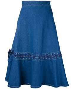 G.V.G.V. | Denim Lace-Up Skirt Womens Size 34 Cotton