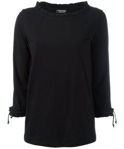 Twin-Set | Frill Boat Neck Sweatshirt Womens Size Large Cotton