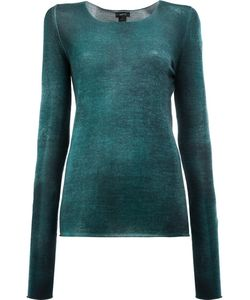 Avant Toi | Washed Effect Jumper Womens Size Medium Silk/Cashmere