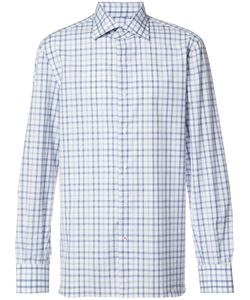 Isaia | Checked Shirt Mens Size 16 1/2 Cotton