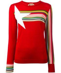 No21   Star Intarsia Jumper Womens Size 40 Silk/Wool/Viscose