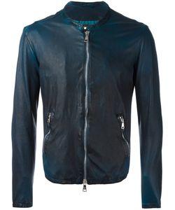 Giorgio Brato   Zipped Jacket Mens Size 52 Leather/Cotton/Nylon