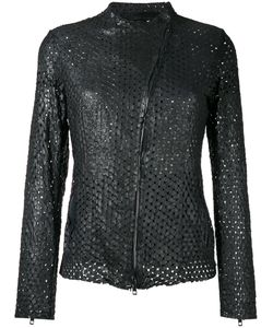 Salvatore Santoro | Perforated Jacket Womens Size 44 Leather