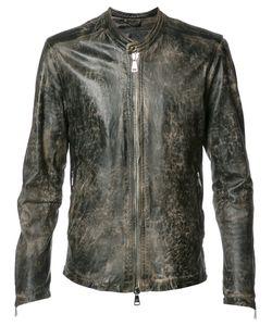 Giorgio Brato   Zipped Jacket Mens Size 48 Nylon/Leather