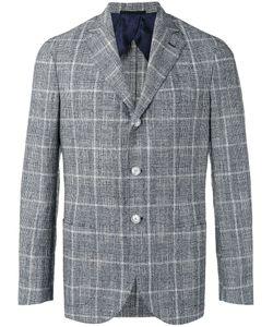 Barba | Plaid Blazer Mens Size 48 Cotton/Linen/Flax/Silk/Polyester