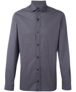 Z Zegna | Geometric Pattern Shirt Mens Size 42 Cotton