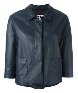 Herno | Cropped Jacket Womens Size 46 Polyester/Acetate/Lamb Skin