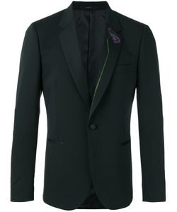 Paul Smith | Embroide Blazer Mens Size 38 Spandex/Elastane/Wool/Viscose