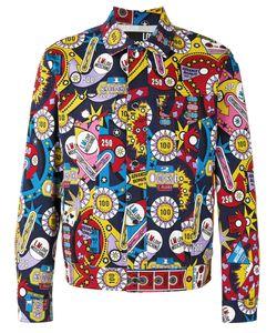 Love Moschino   Multi Print Jacket Mens Size 50 Cotton/Spandex/Elastane