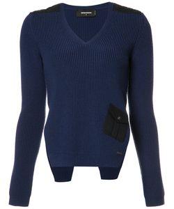 DSquared² | V-Neck Side Slit Jumper Womens Size Small Wool
