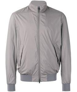 Herno | Zipped Bomber Jacket Mens Size 54 Polyester/Viscose/Spandex/Elastane
