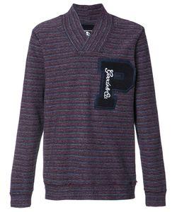 Prps | Striped V-Neck Sweatshirt Mens Size Large Cotton