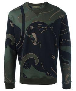 Valentino | Rockstud Panther Print Sweatshirt Mens Size Large Cotton/Polyamide