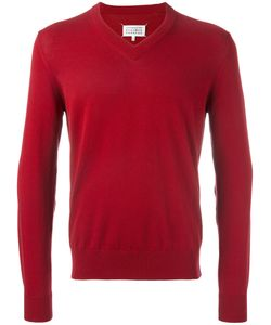 Maison Margiela | V-Neck Elbow Patch Jumper Mens Size Small Cotton