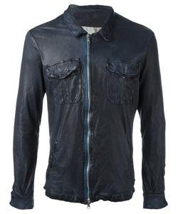 Giorgio Brato   Zip Up Jacket Mens Size 46 Cotton/Leather