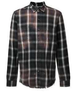 Amiri | Stained Effect Plaid Shirt Size Small Cotton/Rayon