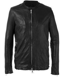 Giorgio Brato   Stitched Detail Jacket Mens Size 50 Leather/Cotton/Nylon