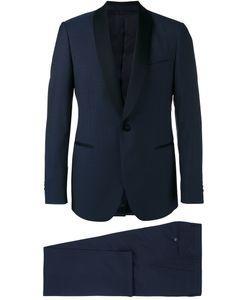 Lardini | Shawl Lapel Two-Piece Suit Mens Size 54 Cotton/Wool/Cupro/Viscose